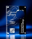 Circle Cutout Clear and Black Acrylic Award Achievement Award Trophies