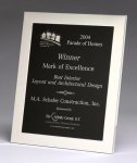 Polished Silver Aluminum Frame Plaque Achievement Award Trophies