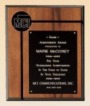 American Walnut Plaque Achievement Award Trophies