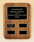 Solid American Walnut Quarterly Award Plaque Achievement Award Trophies