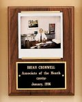 American Walnut Photo Plaque Achievement Award Trophies