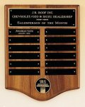 American Walnut Perpetual Plaque with Medallion Achievement Award Trophies