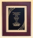 Rosewood Piano Finish Frame with Brass Plate Achievement Award Trophies