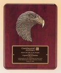 Antique Eagle Rosewood Piano Finish Plaque Achievement Award Trophies