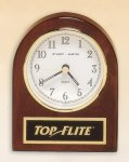 Rosewood Piano Finish Desk Clock Achievement Award Trophies