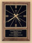 American Walnut Vertical Wall Clock with Square Face. Boss Gift Awards
