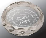 Faceted Round Crystal Paper Weight Boss Gift Awards