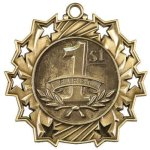 Ten Star Medal -1st Place  Bowling Trophy Awards