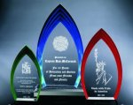 Multi Step Flame Acrylic Award Colored Acrylic Awards