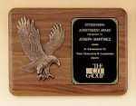 American Walnut Plaque with Eagle Casting Eagle Plaques