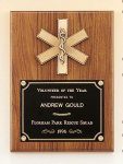 American Walnut Plaque with Emergency Medical Casting Employee Awards