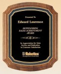 American Walnut Notched Plaque Employee Awards