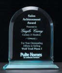 Arch Series Acrylic Award on Acrylic Base. Employee Awards