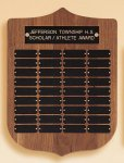 American Walnut Shield Perpetual Plaque Employee Awards