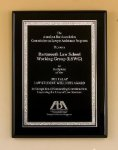 Black Piano Finish Plaque Employee Awards