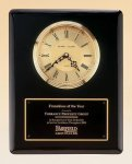 Black Piano Finish Vertical Wall Clock Employee Awards