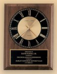 American Walnut Vertical Wall Clock Employee Awards