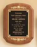American Walnut Plaque with Decorative Accents Employee Awards