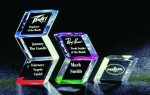 Slanted Hex Paper Weight Acrylic Award Executive Gift Awards
