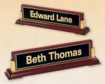 Rosewood Piano Finish Nameplate Executive Gift Awards