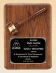 American Walnut Plaque with Walnut Gavel Gavel Plaques