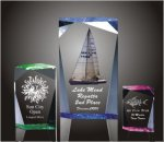 Faceted Rectangle Acrylic Award Golf Awards