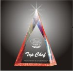 Multi Faceted Pyramid Acrylic Award Golf Awards