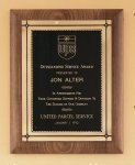 American Walnut Plaque with Antique Bronze Frame Golf Awards