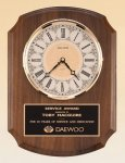 American Walnut Vertical Wall Clock. Golf Awards
