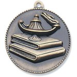 Lamp/Learning Medal High Relief Medallion Awards