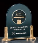 Jade Acrylic Award with Medallion Investment Acrylic Awards