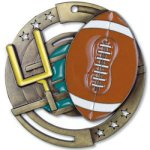 Enamel Football Medals