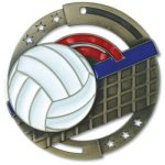Enamel Volleyball Medals