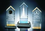 Fluted Bottom Beveled Tower Acrylic Award Obelisk Awards