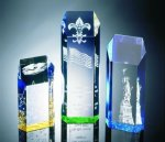 Hexagon Top Tower Acrylic Award Obelisk Awards
