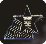 Shooting Star Acrylic Award Patriotic Awards