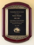Rosewood Piano Finish Plaque Patriotic Awards