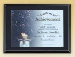 Black Glass Certificate Plaque Patriotic Awards