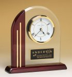 Arched Clock with Rosewood Piano Finish Post and Base Piano Finish Acrylic Awards
