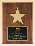 American Walnut Plaque with 5 Gold Star Religious Awards