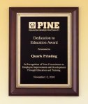 Cherry Finish Plaque Religious Awards