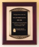 Rosewood Piano Finish Plaque Cast Frame Religious Awards