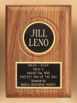 American Walnut Plaque with Routed Disk Area Religious Awards