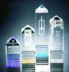 Fluted Pillar Acrylic Award Sales Awards