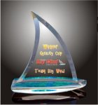 Sail Boat Acrylic Award Sales Awards