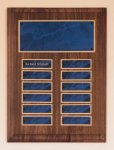 Solid American Walnut Perpetual Plaque Sales Awards
