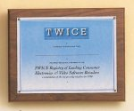 American Walnut Photo / Certificate Plaque Sales Awards