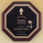 Octagonal Rosewood Piano Finish Plaque Sales Awards