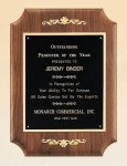 American Walnut Plaque with Decorative Accents Sales Awards