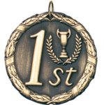 1st Place Gold Tennis Trophy Awards